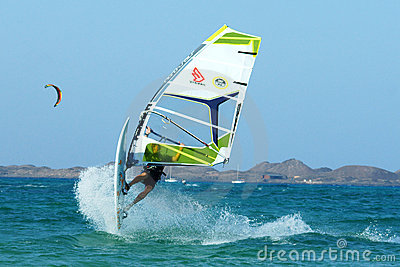 Extreme windsurfing Editorial Image