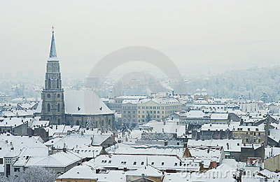 Extreme winter in Europe Editorial Image
