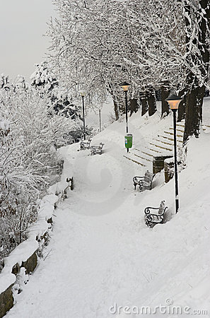 Extreme winter in Europe Editorial Photo