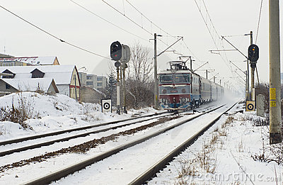 Extreme winter in Europe Editorial Stock Image