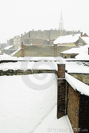 Extreme winter in Europe Editorial Stock Photo