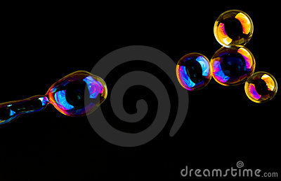 Extremely colored soap-bubbles