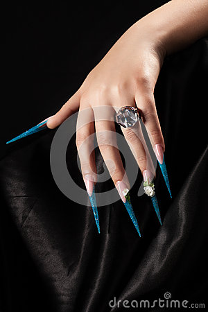 extremely long nails