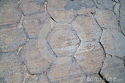 Extremidades da coluna do basalto