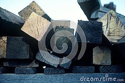 Extremos de la madera de construcción