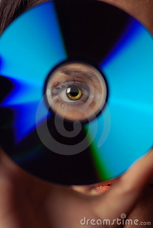 Free Eye And Compact Disk Stock Image - 2757881