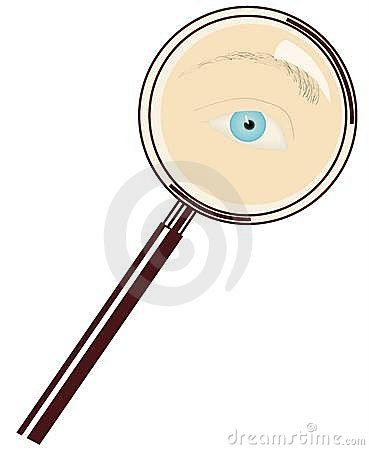 Free Eye And Magnifying Glass Stock Photography - 903562