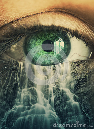 Free Eye And Waterfall Royalty Free Stock Photo - 38988625