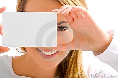 Eye and card