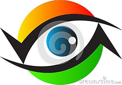 Eye care clinic logo
