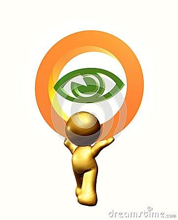 Eye care icon symbol