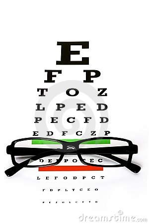 Free Eye Chart Royalty Free Stock Photography - 8093637