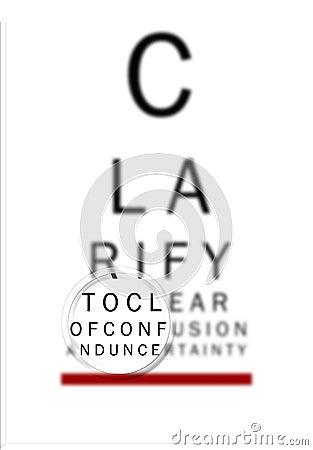 Free Eye Chart Clarify 2 Stock Photography - 732432
