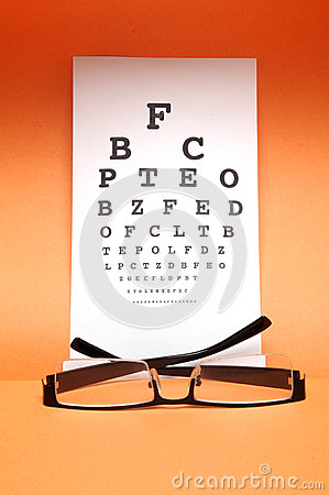 Eye chart test