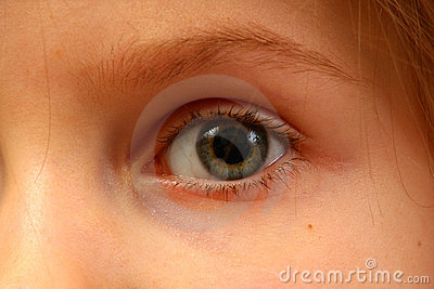 Eye of a child