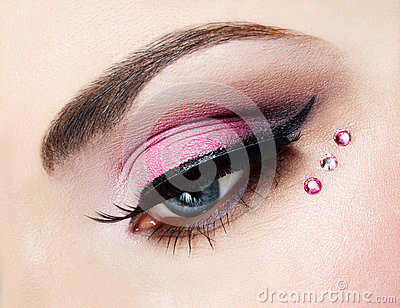 Eye close up with beautiful make-up