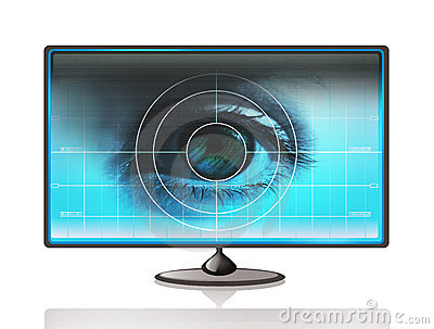 Eye on computer display