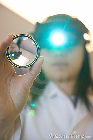 Free Eye Doctor Examing Your Eyes Stock Photography - 4179502