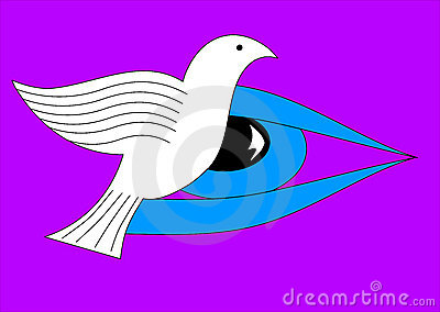Eye on the dove of peace