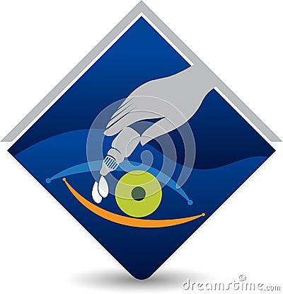 Free Eye Drops Logo Stock Image - 97783721
