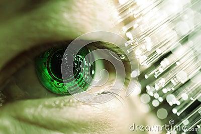 Eye and electronic