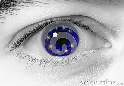 Eye europe flag
