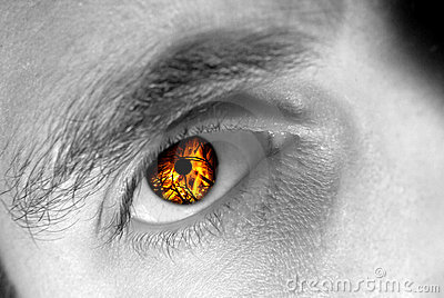 Eye on fire