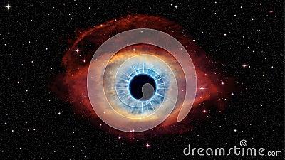 Eye Of God In Nebula Helix Stock Illustration - Image ...