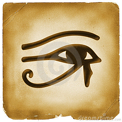 Eye of Horus symbol old paper