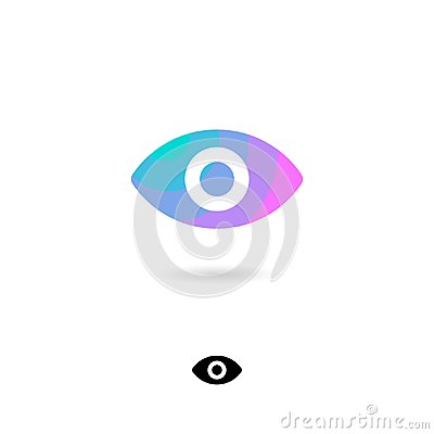 Free Eye Icon, UI. Web Icon. Video Emblem. View, Webcam, Watching Icons. Eye Symbol With Shadow. Stock Images - 122061464