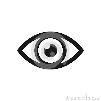 Free Eye Icon. Vector Illustration. Royalty Free Stock Images - 90987299