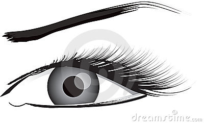 Eye Illustration In Black And White