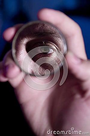 Free Eye In The Mirror Stock Photo - 2477180