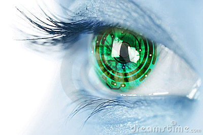 Eye iris and electronic circuit