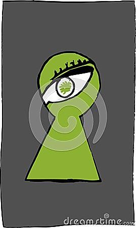 Eye in the Keyhole
