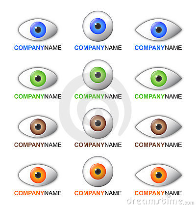 Eye logo and icon set
