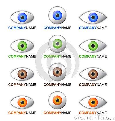 Eye Logo And Icon Set Stock Images - Image: 18025934