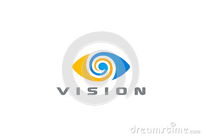 Eye Logo vision abstract Logo design vector Vector Illustration