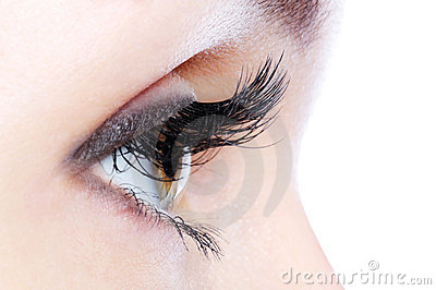 Eye with a long curl false eyelashes