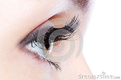 Eye with a long curl false eyelashes