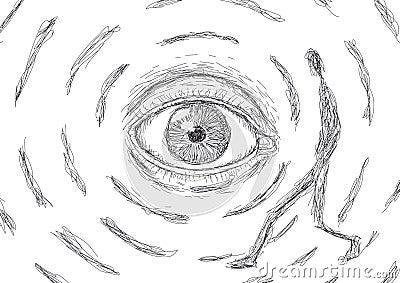 Eye that looks at a man