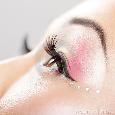Eye makeup detail