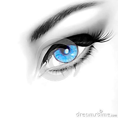Free Eye Of Beauty Stock Image - 313421