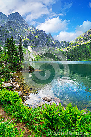 Free Eye Of The Sea Lake In Tatra Mountains Stock Photo - 37063570