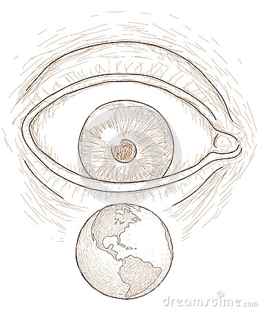 Eye sees the world