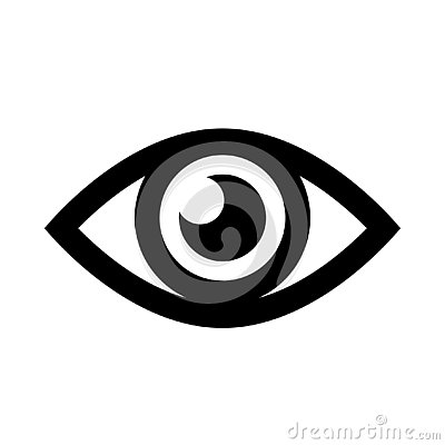 Eye simple icon Vector Illustration