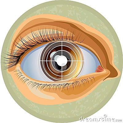 Eye and target
