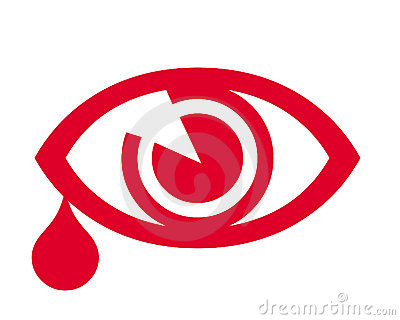 Eye and teardrop symbol