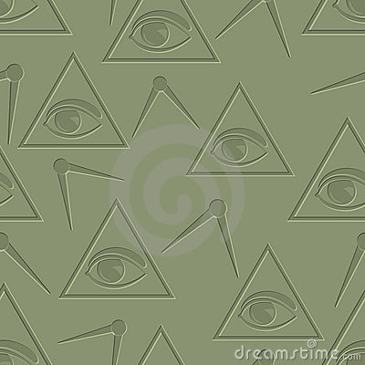 Eye in triangle background