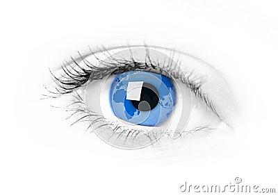 Eye width earth inside